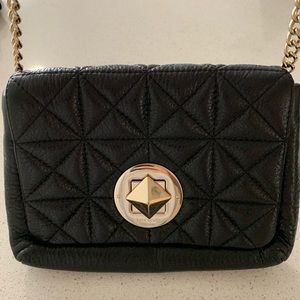 Kate Spade Dove Gold Black Crossbody Bag
